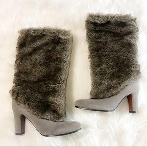 Sam Edelman Faux Fur Heeled Boots